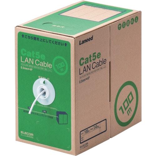 エレコム EU RoHS指令準拠LANケーブル CAT5E 100m ホワイト_