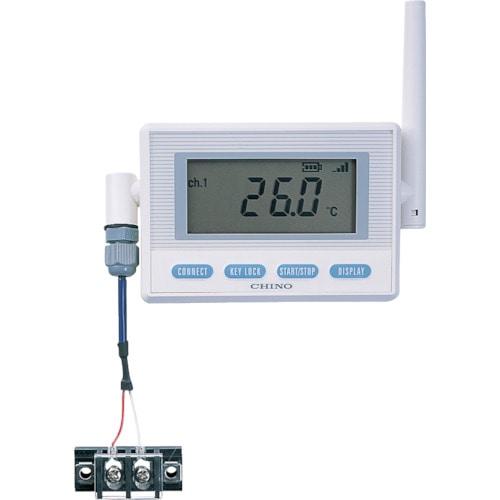 CHINO 監視機能付無線ロガー 送信器 熱電対モデル 専用バッテリ・K熱電対_