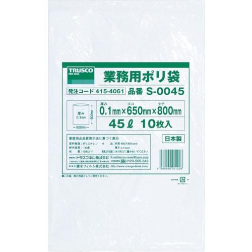 TRUSCO 業務用ポリ袋0.1×240L 5枚入_