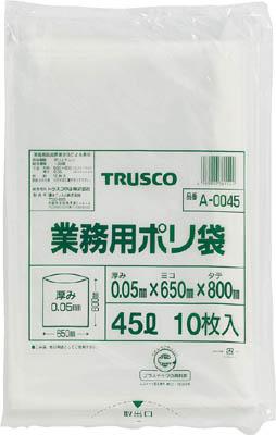 TRUSCO 業務用ポリ袋 厚み0.05X45L 10枚入_