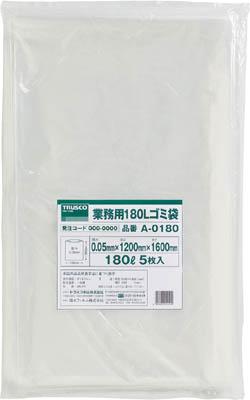 TRUSCO 業務用ポリ袋 厚み0.05X180L  (5枚入)_