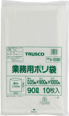 TRUSCO 業務用ポリ袋 厚み0.05X90L 10枚入_