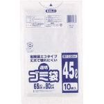 ワタナベ 透明ゴミ袋(再生原料タイプ)45L (10枚入)_