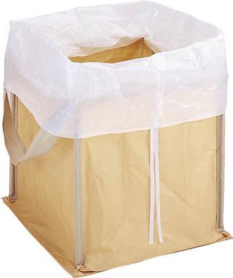 TRUSCO 回収袋 自立型タイプ 450L 白カバー付_