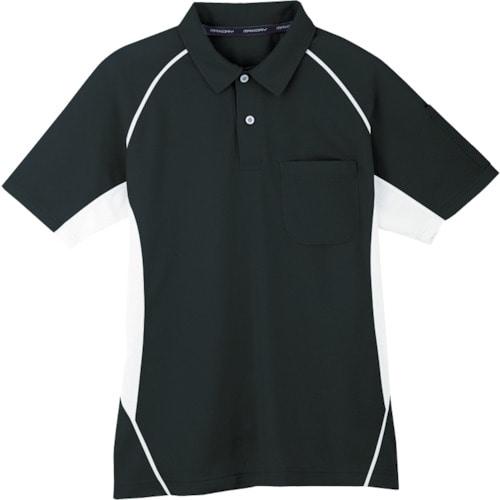 コーコス 半袖ポロシャツ 13ブラック M_