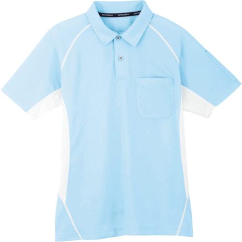 コーコス 半袖ポロシャツ 7サックス S_