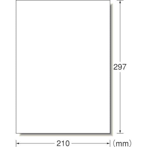 3M エーワン ラベルシール(プリンタ兼用)再生紙 1面 (100枚入)_