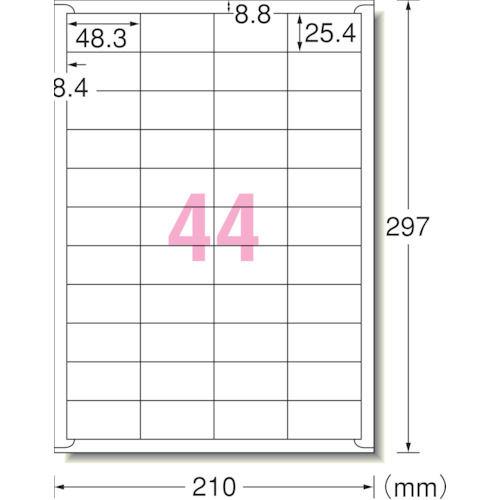 3M エーワン ラベルシール(プリンタ兼用)再生紙 44面 四辺余白付 100枚_