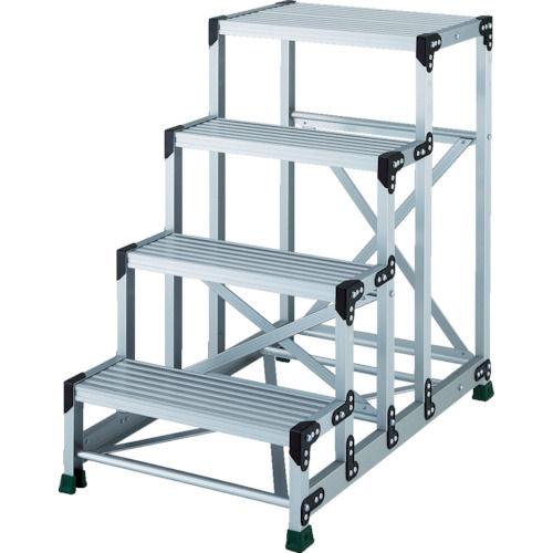 TRUSCO アルミ合金製作業台 4段 高さ1.00m 天板600×400_