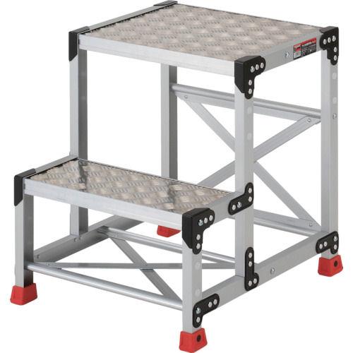TRUSCO 作業用踏台 アルミ製・縞板タイプ 天板寸法500X400XH600_