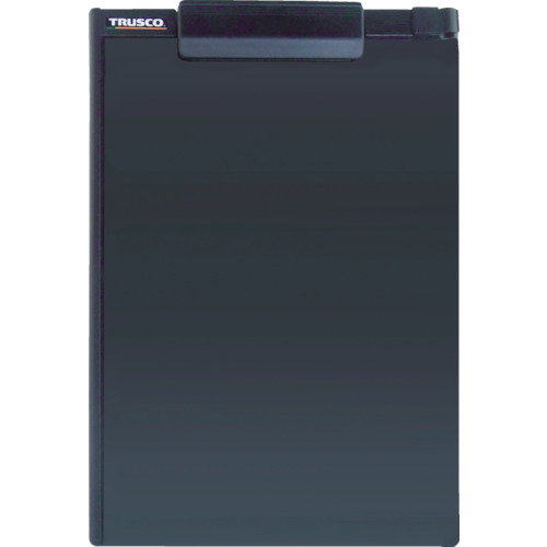 TRUSCO ペンホルダー付クリップボード A4縦 黒_