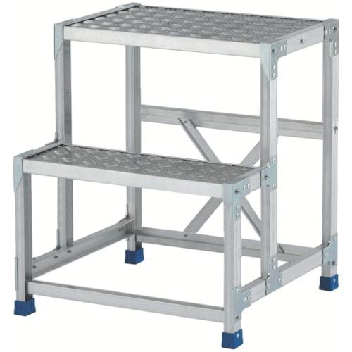 アルインコ 作業台(天板縞板タイプ)2段_