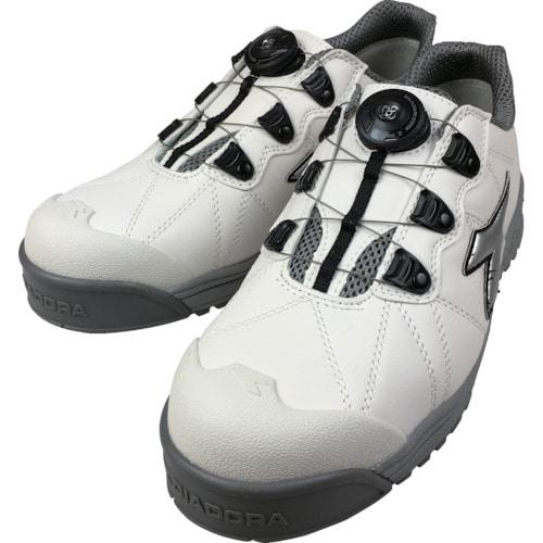 ディアドラ DIADORA安全作業靴 フィンチ 白/銀/白 25.5cm__