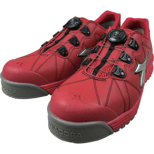 ディアドラ DIADORA安全作業靴 フィンチ 赤/銀/赤 27.5cm__