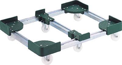 TRUSCO 伸縮式コンテナ台車 内寸300-400X900-1000 スチール_