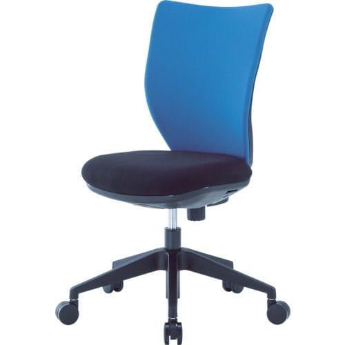 アイリスチトセ 回転椅子3DA ブルー 肘なし_