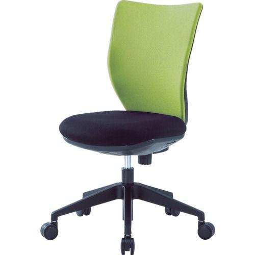 アイリスチトセ 回転椅子3DA ライムグリーン 肘なし_