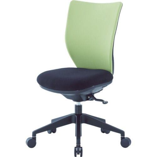 アイリスチトセ 回転椅子3DA ライムグリーン 肘なし シンクロロッキング_