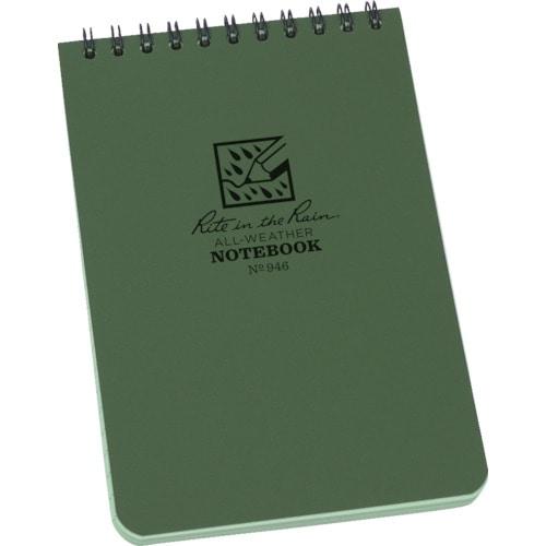 RITR 4X6 トップスパイラル ノートブック ユニバーサル グリーン_