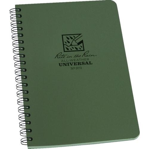 RITR 4 5/8X7 スパイラルノートブック ユニバーサル グリーン_