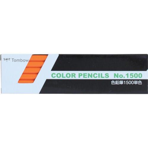 Tombow 色鉛筆 1500 単色 だいだい色_
