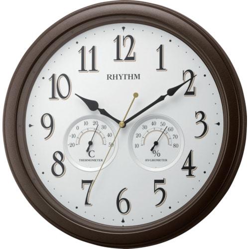 RHYTHM 温度湿度計付掛時計_