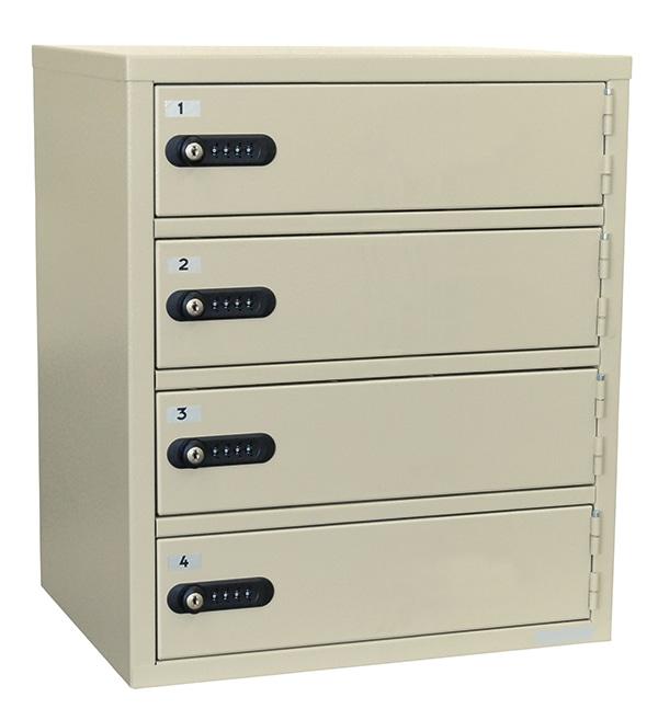 エーコ― 貴重品保管庫 1列4段/4人用 LK-308-4 数字ダイヤルロック式