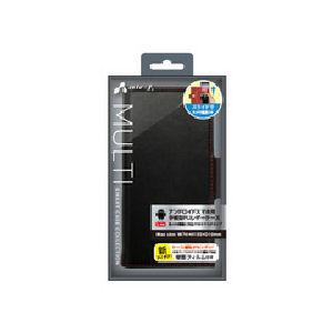 エアージェイ スマホケース Xperiaシリーズ用 PUレザー AC-LAM2 BKR