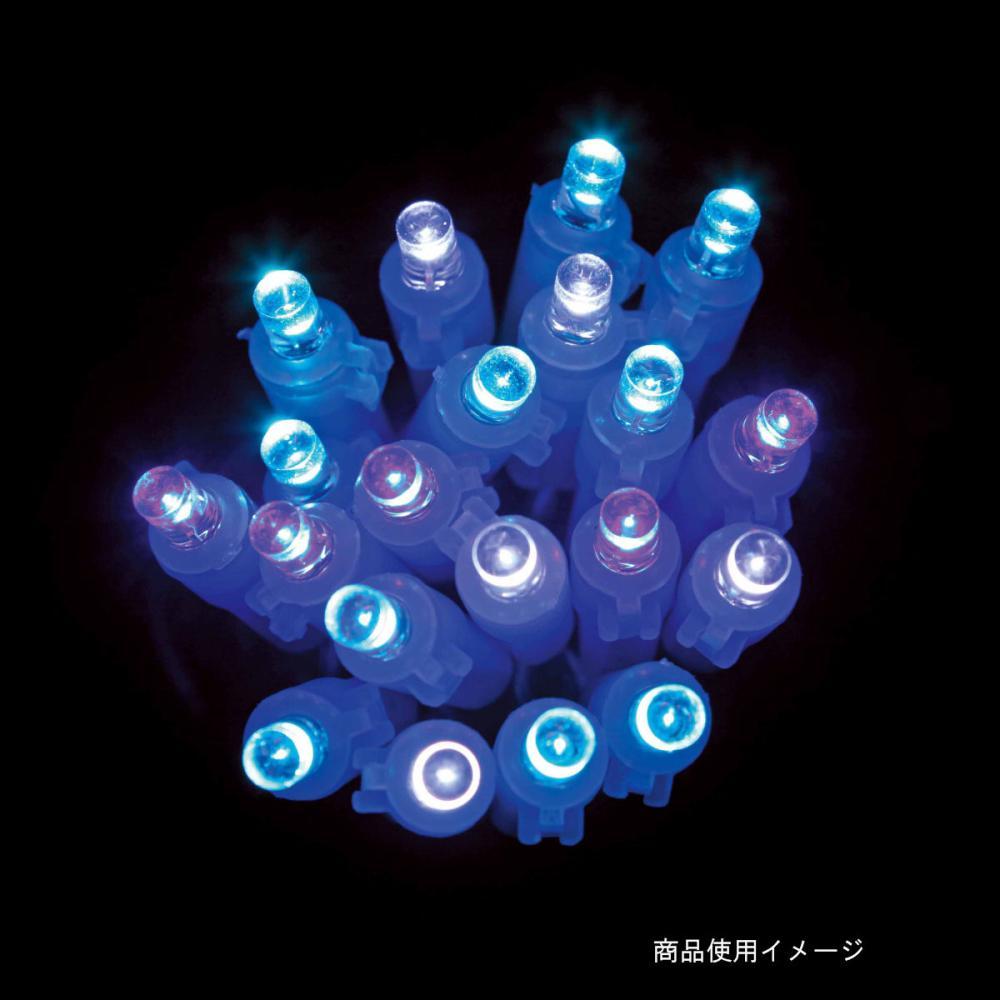 【アウトレット】LEDストレートライト100球アイスブルーGコード