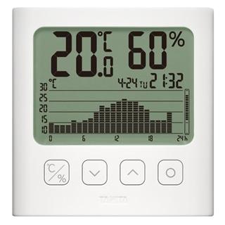 タニタ グラフ付デジタル温湿度計 TT580WH ホワイト