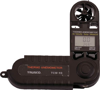 TRUSCO 折りたたみ式風速計_
