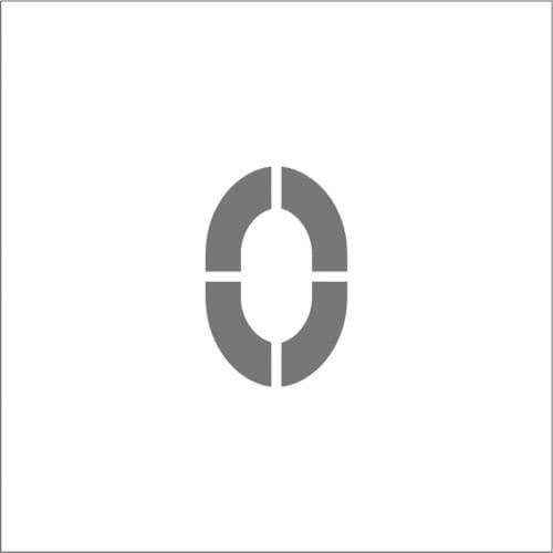 IM ステンシル マグネット 0 文字サイズ150×95mm_