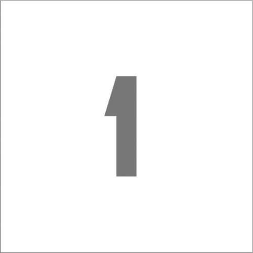 IM ステンシル マグネット 1 文字サイズ150×95mm_