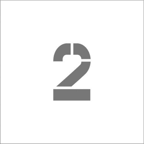 IM ステンシル マグネット 2 文字サイズ150×95mm_