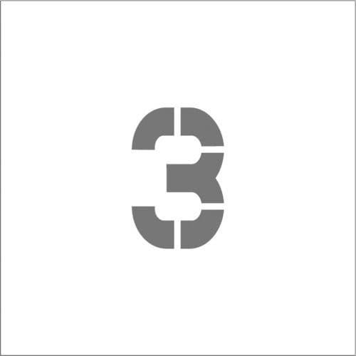 IM ステンシル マグネット 3 文字サイズ50×40mm_