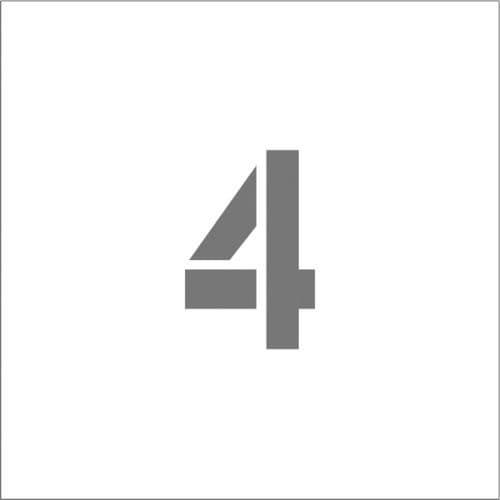 IM ステンシル マグネット 4 文字サイズ100×65mm_