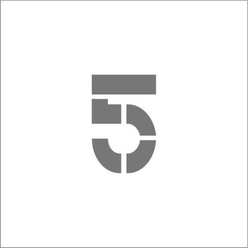 IM ステンシル マグネット 5 文字サイズ50×40mm_