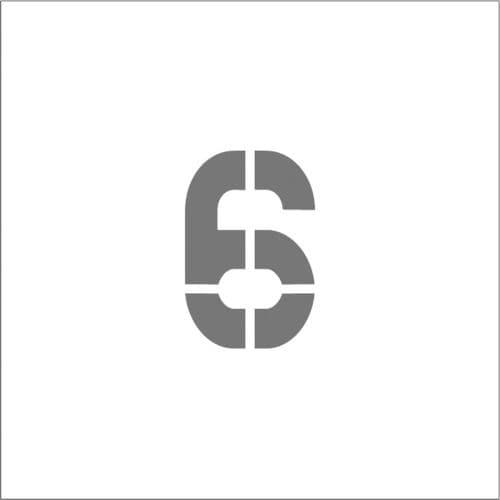 IM ステンシル マグネット 6 文字サイズ50×40mm_