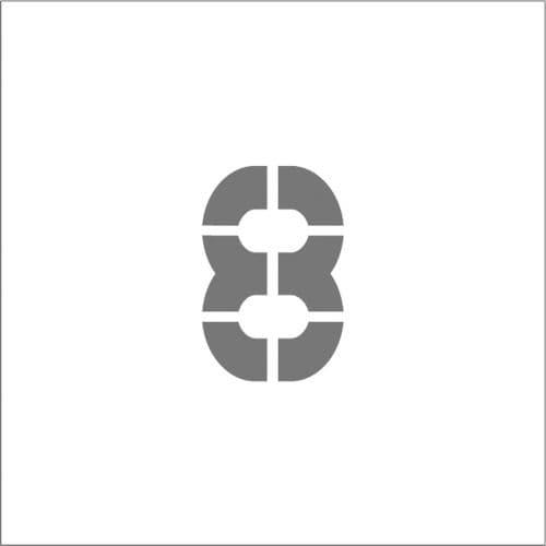 IM ステンシル マグネット 8 文字サイズ150×95mm_