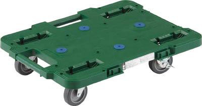 TRUSCO ルートバン 400X600 4輪自在 S付 緑_