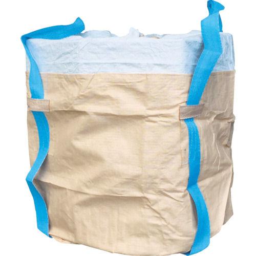 アサヒ コンテナバッグ丸型二重バッグ青ベルト アスベス廃棄用1000kgタイプ_