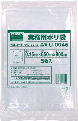 TRUSCO 業務用ポリ袋0.15×70L 5枚入_