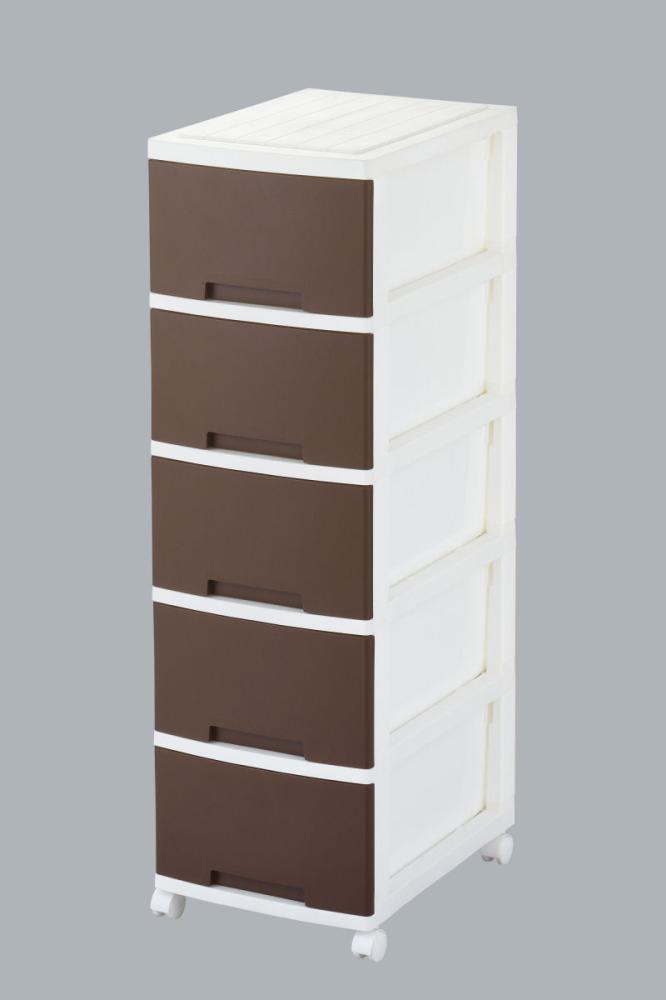 リビング収納BOX ニューライフ5段 ブラウン