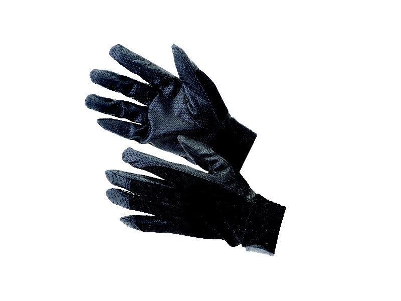 合成皮革手袋 M ブラック 3双セット