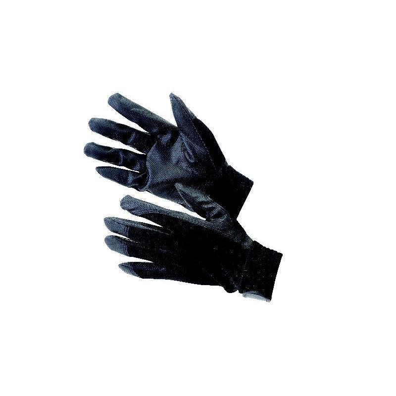 合成皮革手袋 LLブラック 3双セット