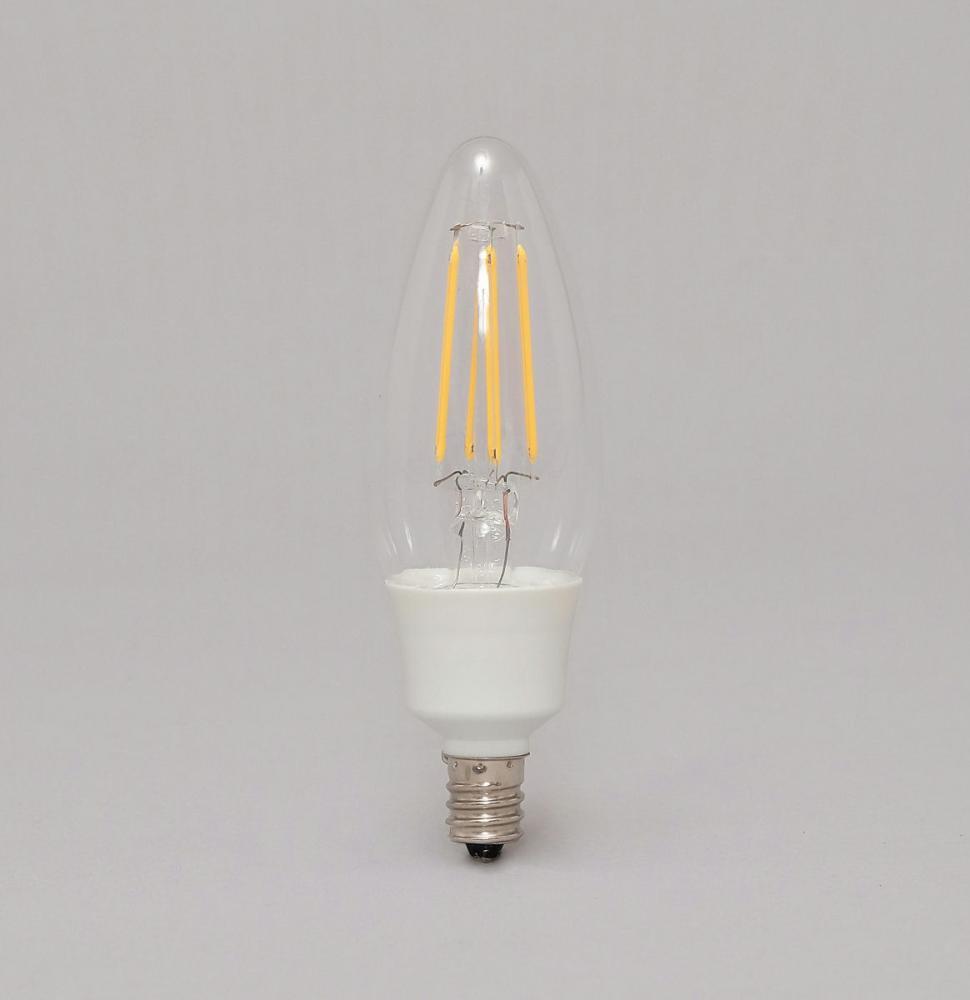 LEDフィラメント電球 小形 電球色 40形相当 450lm LDC3L-G-E12-FC クリア