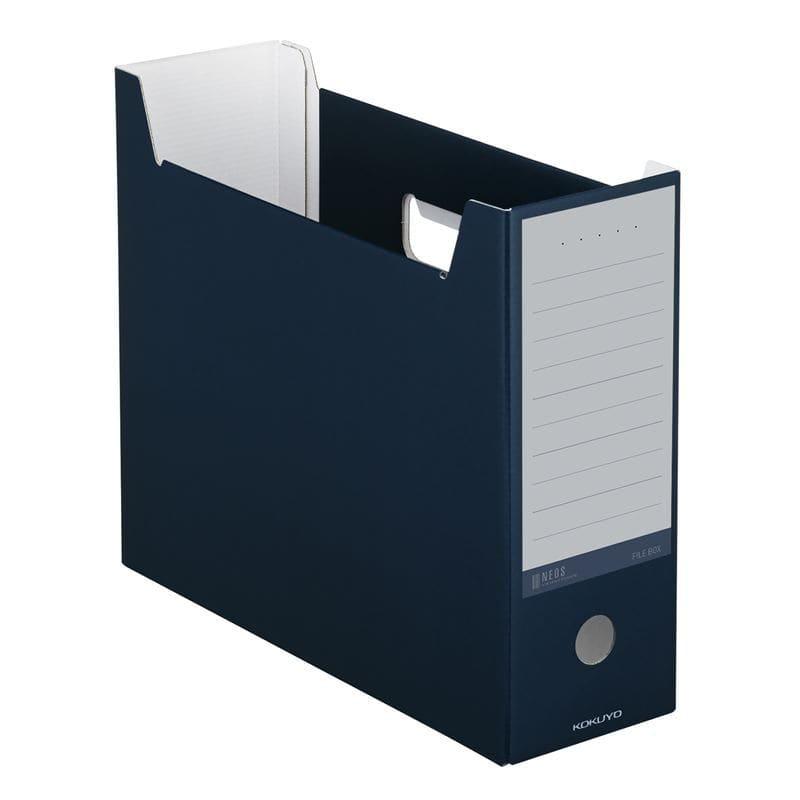 コクヨ ネオス ファイルボックス ネイビー A4-NELF-DB