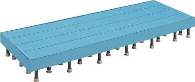 TRUSCO 樹脂ステップ高さ調節式側板付600X1200 H200-220_