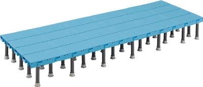 TRUSCO 樹脂ステップ高さ調節式600X1500 H200-220_