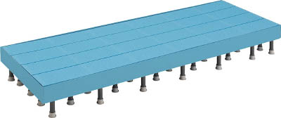 TRUSCO 樹脂ステップ高さ調節式側板付600X1500 H200-220_